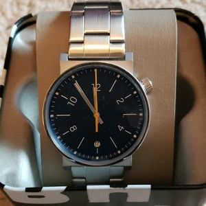Fossil Barstow three-hand stainless steel watch